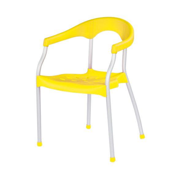 Serena Arm Chair - Saffron Yellow