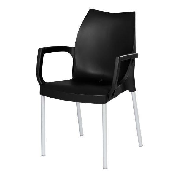 Tulip Arm Chair - Black