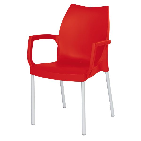 Tulip Arm Chair - Red