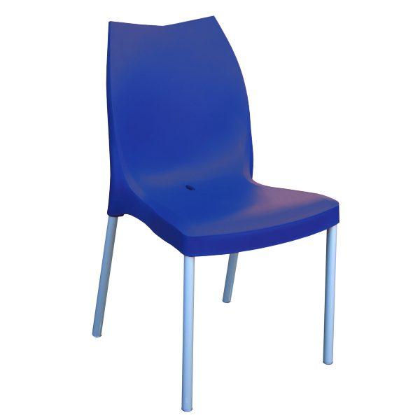 Tulip Side Chair - Dark Blue
